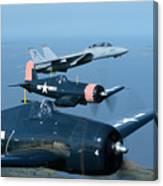 Us Navy Lagacy Flight  Canvas Print