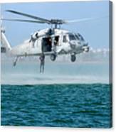 U.s. Navy Sh-60s Sea Hawk Helicopter Canvas Print