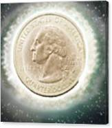 Us One Quarter Dollar Coin 25 Cents Canvas Print