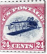 U.s. Postage Stamp, 1918 Canvas Print