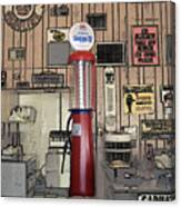 Us Route 66 Smaterjax Dwight Il Gas Pump 01 Pa 02 Canvas Print