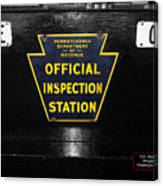 Us Route 66 Smaterjax Dwight Il Official Inspection Signage Canvas Print