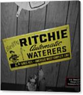 Us Route 66 Smaterjax Dwight Il Rare Waterers Signage Canvas Print