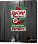 Us Route 66 Smaterjax Dwight Il Sky Chief Supreme Signage Canvas Print