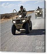 U.s. Soldiers Perform Maneuvers Canvas Print