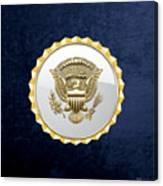 Vice Presidential Service Badge On Blue Velvet Canvas Print