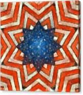 Usa Abstract Canvas Print