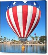 Usa Balloon Canvas Print
