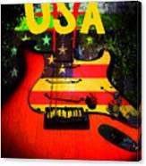 Usa Guitar Music Canvas Print