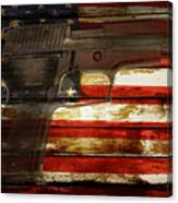 Usa Handgun Canvas Print