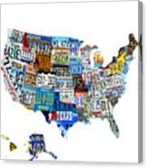 Usa License Plates Map 4p Digital Art by Brian Reaves