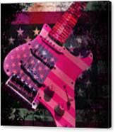 Usa Pink Strat Guitar Music Canvas Print