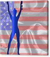 Usa Winner Background Canvas Print