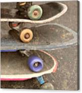 Used Skateboards Canvas Print