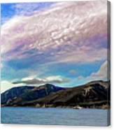 Ushuaia, Ar, Clouds Over Mountains Canvas Print