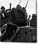 Usmc On The Move In A Lav-25 Canvas Print