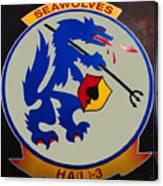 Usn Seawolves Logo Canvas Print