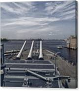 Uss #64 Wisconsin Canvas Print