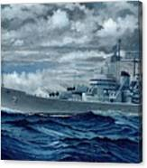 Uss Canberra Cag-2  Canvas Print