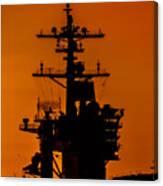 Uss Carl Vinson At Sunset 2 Canvas Print