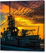 U.s.s. Silversides Sunset Canvas Print