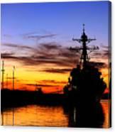 Uss Spruance Is Pierside At Naval Canvas Print