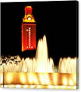 Ut Tower Championship Win Canvas Print
