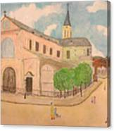 Utrillo And Church Seasonal Change In Paris By Japanese Artist Canvas Print