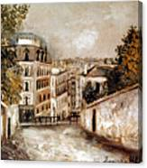 Utrillo: Montmartre, 20th C Canvas Print