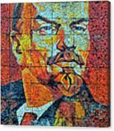 V. I. Ulyanov. Mosaic. Sochi Park. Canvas Print