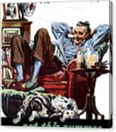 Vacation At Home -- Ww2 Poster Canvas Print