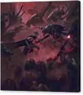 Vader Vs Aliens 1 Canvas Print
