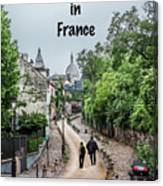 Vagabonds In France Book Cover Canvas Print