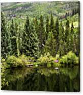Vail Reflections In The Summer Canvas Print