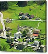 Val Poschiavo From The Bernina Express Switzerland Canvas Print