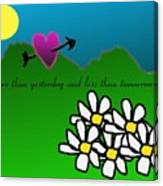 Valentine Card Canvas Print