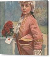 Valentine In The Victorian Era Canvas Print