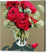 Valentine Roses Canvas Print