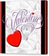 Valentine Script Canvas Print