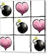 Valentine Violence Canvas Print
