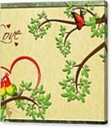 Valentine's Cards 8 Canvas Print