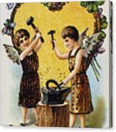 Valentines Day Card, 1900 Canvas Print