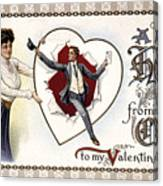 Valentines Day Card, 1909 Canvas Print