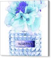 Valentino Blue Perfume Canvas Print