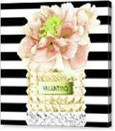 Valentino Perfume With Flower Canvas Print