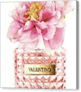 Valentino Pink With Peony Canvas Print