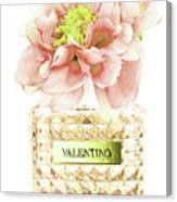 Valentino With Peony Canvas Print
