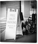 Valet Parking Canvas Print