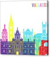 Valladolid Skyline Pop Canvas Print