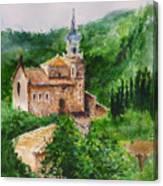 Valldemossa Pleine Air Painting Comp. Canvas Print